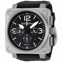 Bell and Ross Aviation BR0194-BL-ST Stainless Steel
