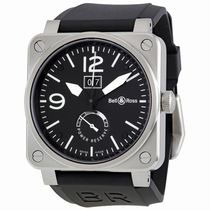 Bell and Ross Aviation BR0390-BL-ST Black