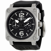 Bell and Ross Aviation BR0394-BL-ST Automatic