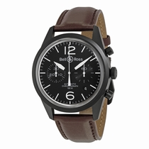 Bell and Ross Vintage BRV126-BL-CA/SCA Carbon PVD Stainless Steel