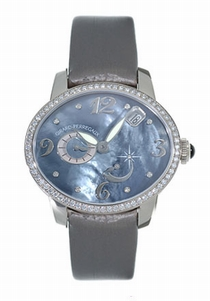 Girard Perregaux Cats Eye 80480-D53-A261-KK2 Black Mother-of-pearl With 8 Diamonds