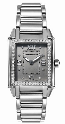 Girard Perregaux Vintage 02574-D1A11-21M Grey With 8 Diamonds