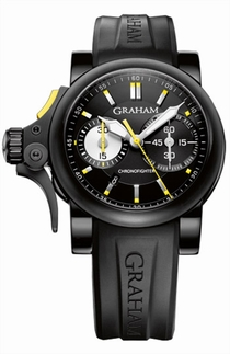 Graham Chronofighter 2TRAB.B01A Black Stainless Steel