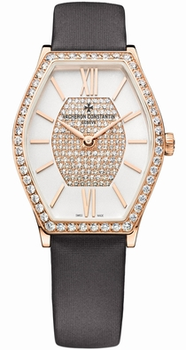Vacheron Constantin 25530/000R-9802 Silver - Diamond Pave Center
