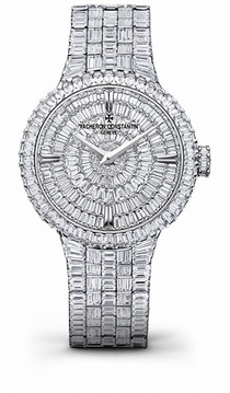 Vacheron Constantin Traditionnelle 25761/QA1G-9945 18 Carat White Gold Diamond Pave
