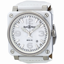 Bell and Ross Aviation BR0392-WH-C/SCA Mens