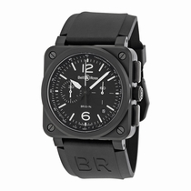 Bell and Ross Aviation BR0394-BL-CA Mens
