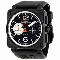 Bell and Ross Aviation BR0394-BW Black PVD Steel with Matte Black Finish
